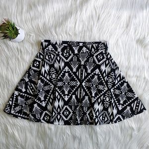 PINK || B&W Patterned Skirt